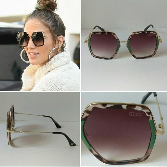 8dd69ee1b22b4 New Women s Gucci Oversized Square Sunglasses